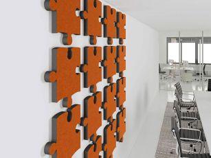 Design akustisk absorber Puzzle
