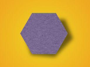 Lydabsorber, heksagonal filtoverflade