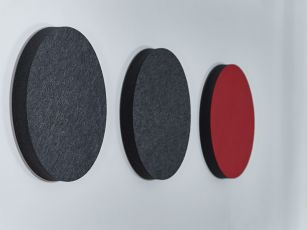 Lydabsorber med filtoverflade - Cirkel/ Ellipse